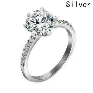 New Stunning Crystal Wedding Ring